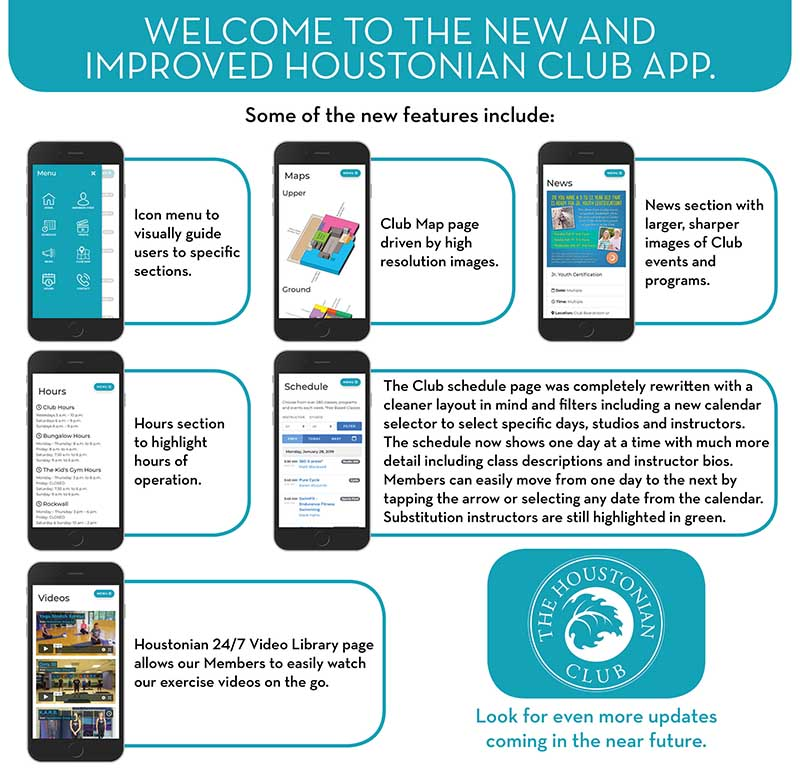 New and Improved Houstonian Club App