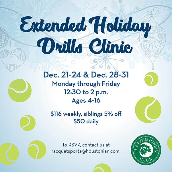 Extended Holiday Drills Clinic